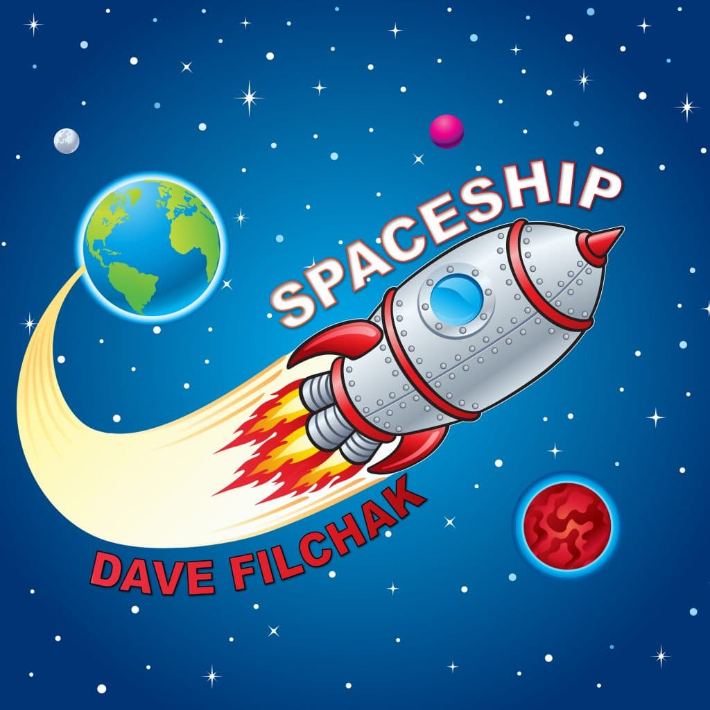 Cover art for the 2020 release of Spaceship by Dave Filchak and Buck Moore